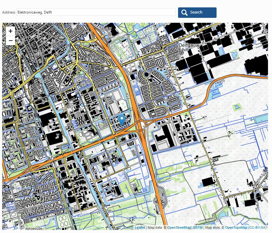 Leaflet js maps library